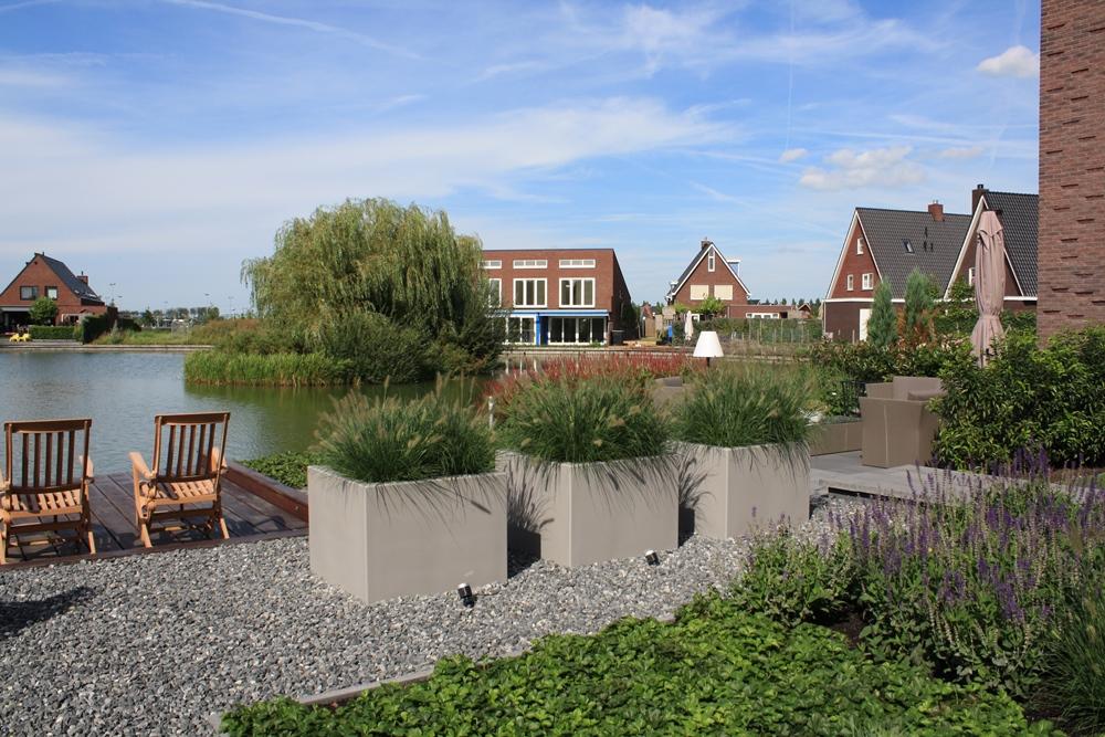 Grote Moderne Tuin : Moderne tuin in utrecht tuinontwerpburo groenendijk