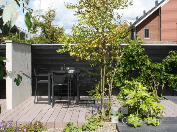 Tuinontwerpburo groenendijk archieven tuinontwerpburo for Moderne kleine tuin