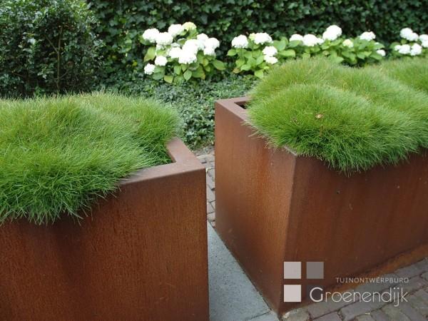 Plantenbak van cortenstaal
