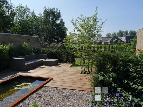 Strakke vogelvriendelijke tuin in Benthuizen