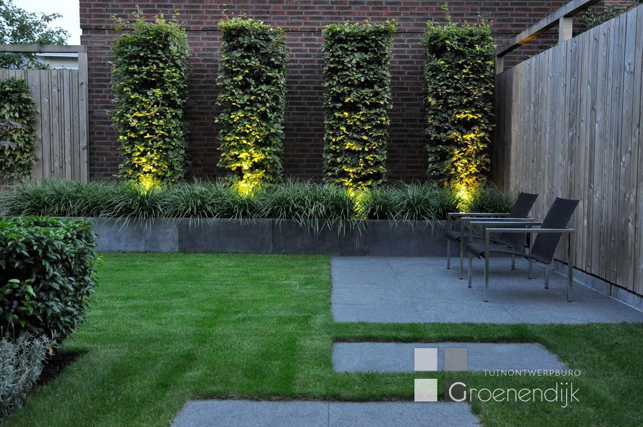 Sfeerverlichting in tuin tuin ontwerp buro groenendijk for Ontwerp tuin