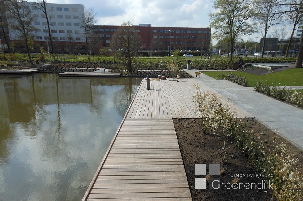 Bedrijfstuin in aanleg in Utrecht