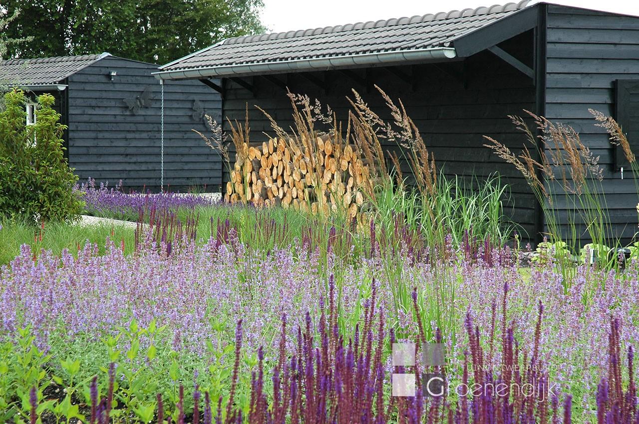 Beplantingsplan Natuurlijke Tuin : Natuurlijke tuin in soest paarse border tuin ontwerp buro
